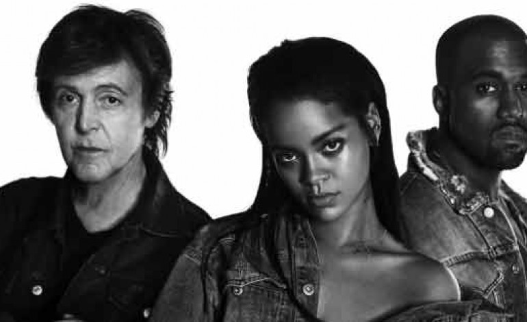 Rihanna new single FourFiveSeconds Kanye West