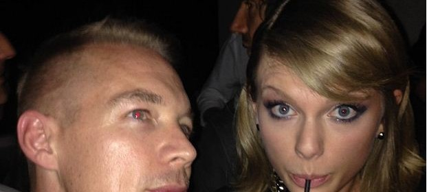 taylor swift friends with diplo at grammy after party 2015