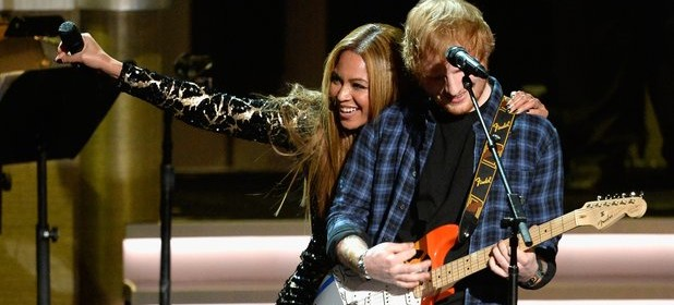 beyonce and ed sheeran stevie wonder tribute