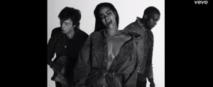 """The trio-Rihanna, Kanye West and Sir Paul McCartney in """"FourFiveSeconds"""" music video"""
