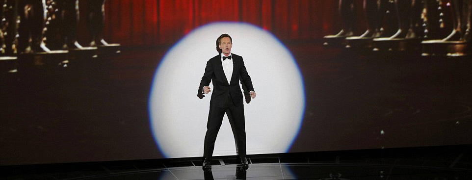 "Neil patrick harris opening monologue at 2015 oscars ""moving pictures"" song"