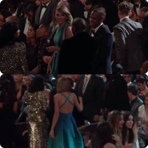 Taylor Swift, Kanye West and Kim Kardashian talking to each other
