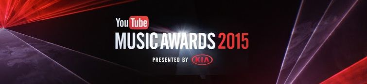 new music videos from youtube music awards 2015