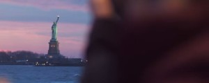 statue of liberty in welcome to america music video by Lacrae