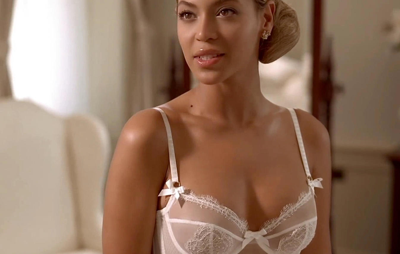 beyonce in white lingerie in best thing i never had music video
