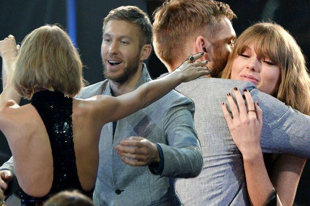 taylor swift and calvin harris at iheart radio awards 2016 tayvin