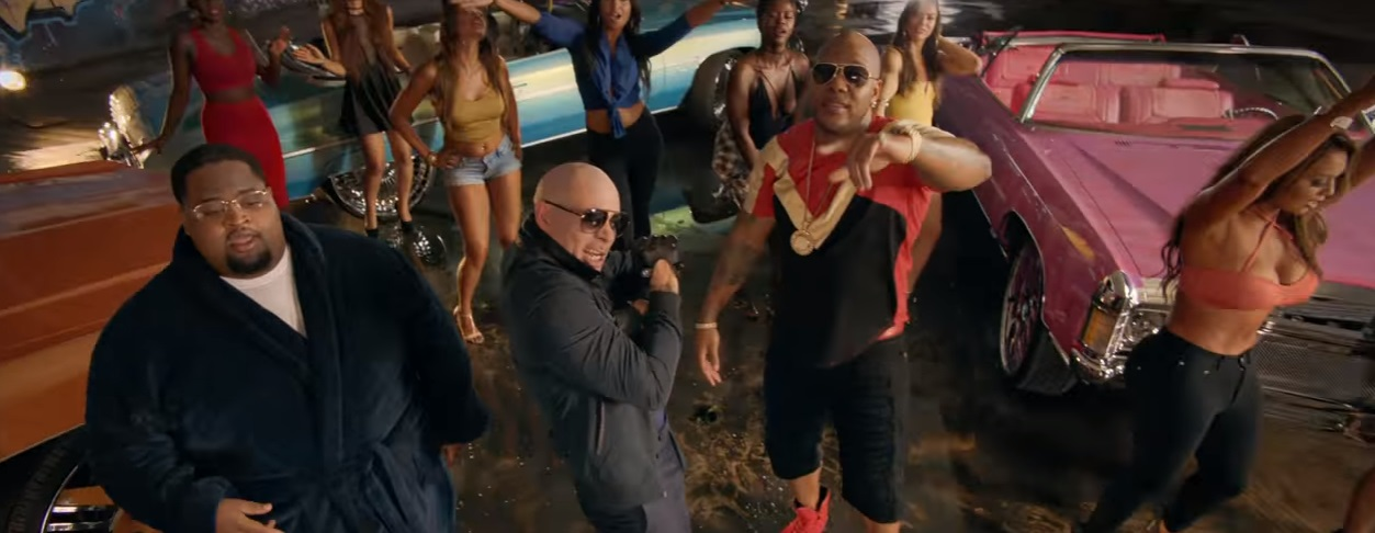 pitbull greenlight music video flo rida lunchmoney lewis