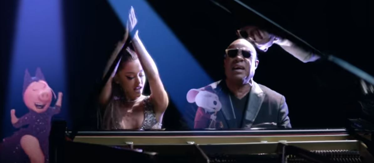 stevie wonder ariana grande faith video sing movie soundtrack