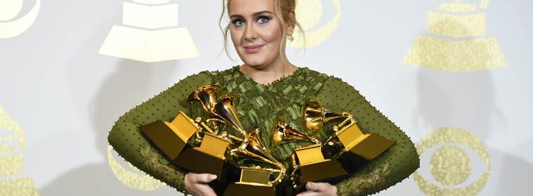 grammy awards 2017 adele list of winners