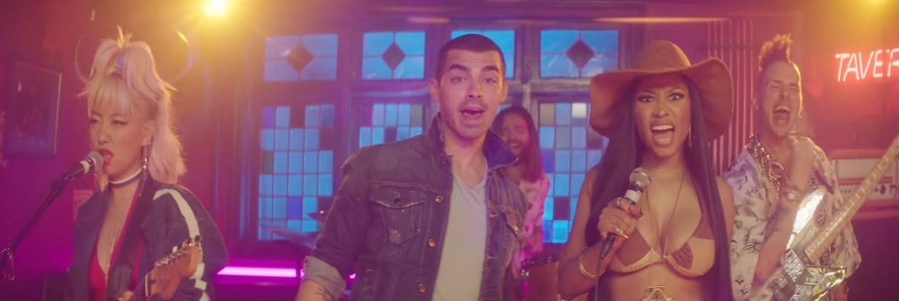 dnce kissing strangers music video
