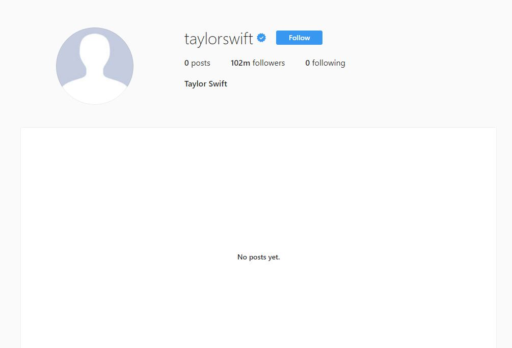taylor swift instagram deleted social media cleaned