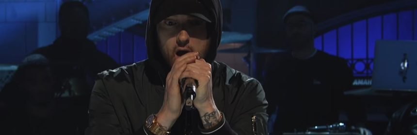 eminem walk on water stan love the way you lie SNL skylar grey