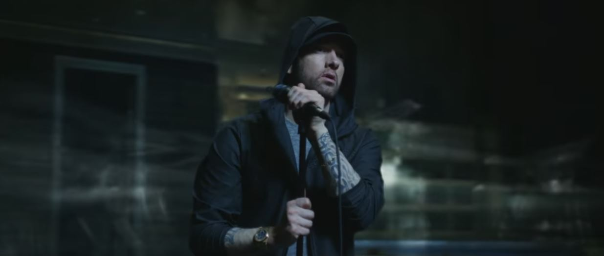 Eminem walk on water music video