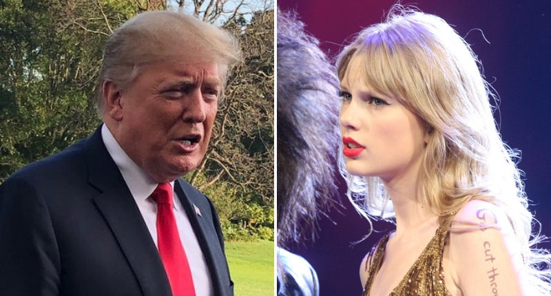 donald trump taylor swift politics