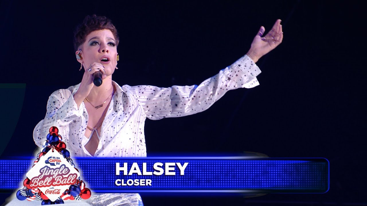 capital's jingle bell ball 2018 halsey closer without me