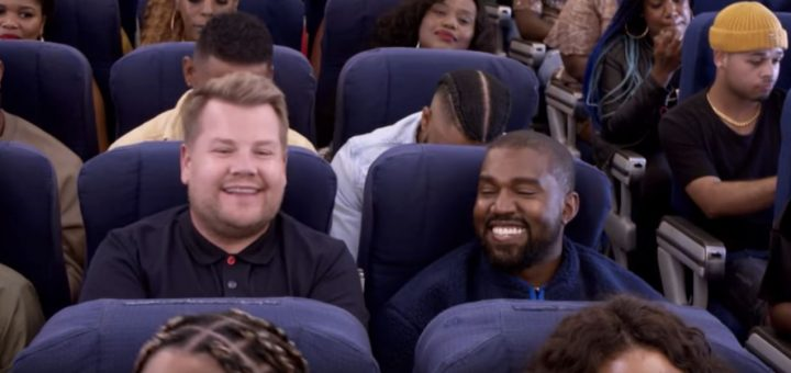 kanye west airpool karaoke james corden